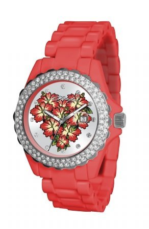 Ed Hardy Women's RX-RD Roxxy Red Watch