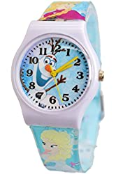 Disney Frozen Olaf Watch For Kids. Large Analog Display For Easy Reading And Learning Time..