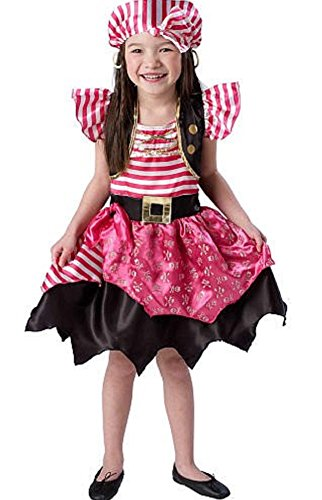 Dream Dazzlers Sassy Pirate Costume for girls Fit Ages 3 to 5 (Sassy Pirate Costume)