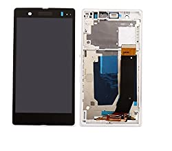 Sony Z Full LCD Touch Digitizer Screen Replacement for Sony Xperia Z L36h L36i C6606 C6603 C6602 C660x C660 With Frame White Color by Online For Good