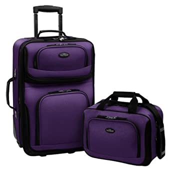 US Traveler Rio Two Piece Expandable Carry-On Luggage Set