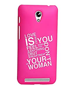 KolorEdge Printed Back Cover For Asus Zenfone C ZC451CG - Pink (1280-Ke15072ZenCPink3D)
