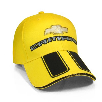 Chevrolet New Camaro Rally Stripe Yellow Baseball Cap (Yellow Ss Emblems compare prices)