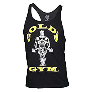 Golds Gym Classic Golds Gym Stringer Tank Top 100% Baumwolle (Black, M)