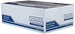 Fortune Plastics EnviroPlas High Density HDPE   60 Gallon Waste Can Liner, Star Seal, Black, 0.78 Mil, 60\