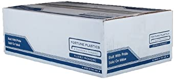 Fortune Plastics EnviroPlas High Density HDPE   Waste Can Liner, Star Seal