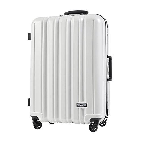 SPALDING スーツケース スポルディング TSAロック サブシェルロックシステム ハードキャリー 50mm大型軽量キャスター 64L SP-0676-64 (ホワイトへアライン)