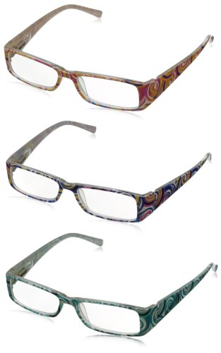 Solo Readers Womens R7045 Reading Glasses,Blue,Pink & Blue,2
