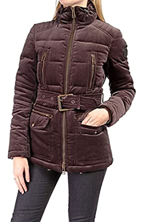 CHANNEL QUILTED PIUMINO, Color: Brown at Amazon Women's Coats Shop