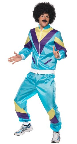 Smiffy's Men's 80's Height Of Fashion Shell Suit Costume with Jacket and Trousers