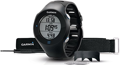 Garmin Forerunner 610 Bundle HRM GPS con Touchscreen, Include Fascia Cardio Premium, Nero