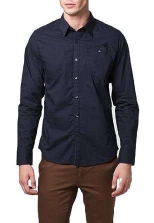 G-Star Raw Mens Correct Line Western Long Sleeve Shirt Dark Blue (X-Large)