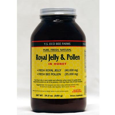 Fresh Royal Jelly + Bee Pollen, Honey Mix - 40,000 mg YS Eco Bee Farms 23.0 oz.