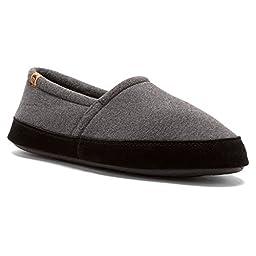 ACORN Men\'s MOC Slip-On Loafer, Charcoal, X-Large/12-13 M US