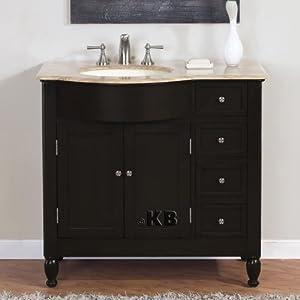 38 Bathroom Single Vanity Off Center Sink Cabinet 902tl