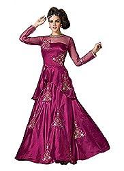 Sizzling Magenta Heavy Designer Gown