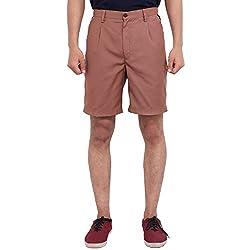 FBBIC Fashionable Brown Men's Solid Short