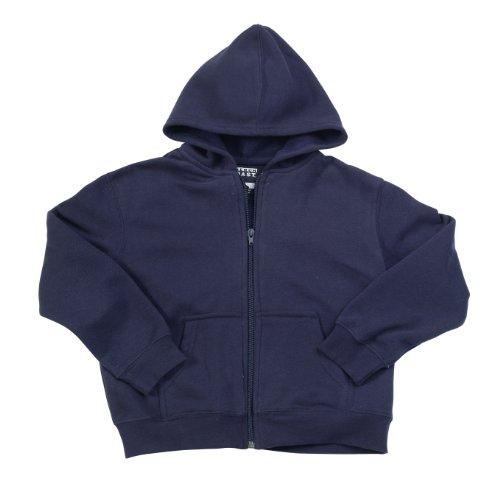 French Toast School Uniforms Hooded Sweatshirt Boys Navy 2T front-1018828