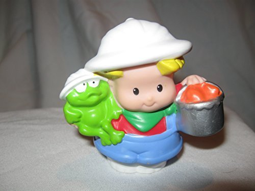 Fisher Price Little People RARE Zoo Keeper EDDIE Safari Hat Zoo Train Zoo Play Set Bucket OOP 2004 - 1