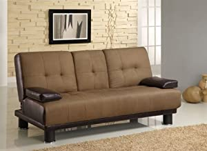 Coaster Futon Sofa Bed With Drop Down Console In Two