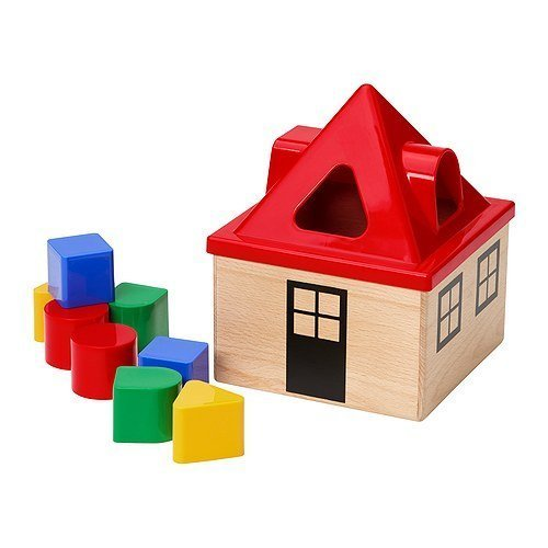 Mula Shape Sorter Multicolor Block House Toy By Ikea