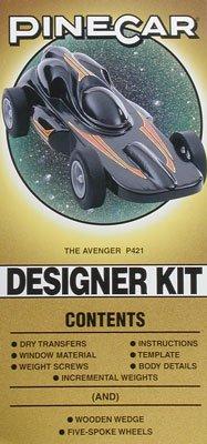 Pinecar Designer Car Kit w/Wedge, Avenger PIN421