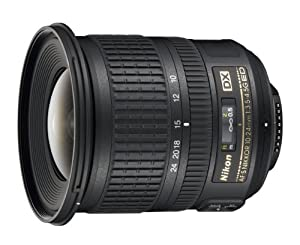 Nikon 10-24mm f/3.5-4.5G ED Auto Focus-S DX Nikkor Wide-Angle Zoom Lens for Nikon Digital SLR Cameras