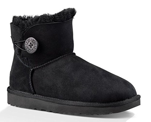 ugg-womens-mini-bailey-button-ii-black-boot-9-b-m
