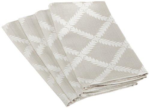 Lenox Laurel Leaf Napkins, White, Set Of 4 front-1045347