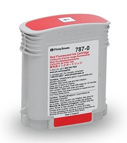 Genuine Original Pitney Bowes Brand 787-0 Standard Yield Fluorescent Red Ink Cartridge for Connect+ 1000/2000/3000 Series (Pitney Bowes Postage Machine Ink compare prices)