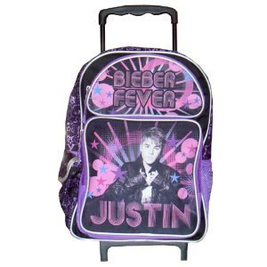 Amazon.com: Justin Bieber Large Rolling Backpack: Clothing