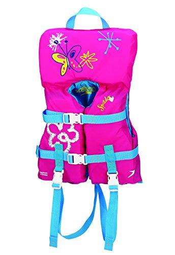 Speedo Infant Personal Flotation Device, Pink Butterfly, 30-Pound