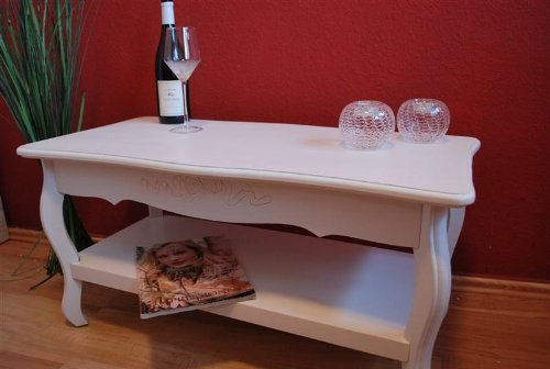 Couchtisch Beistelltisch Tisch Wohnzimmertisch Antik Weiss Landhaus