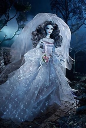 Barbie Haunted Beauty Zombie Bride Gold Label Doll