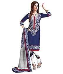 Neerja Creation Womens cotton Unstiched Dress material(K-1021_Blue_Free size)