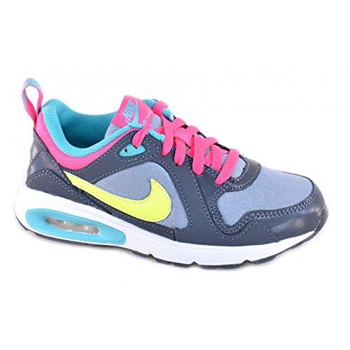 Nike Air Max Trax Kids Mädchen Schuhe Running Schnürschuhe Sneaker Sportschuhe, Grau - Grey/Volt - Größe: 30