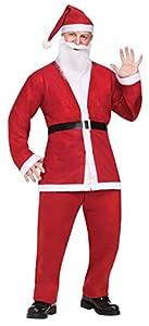 Fun World Costumes Men's Adult Pub Crawl Santa Suit, Red/White, One Size