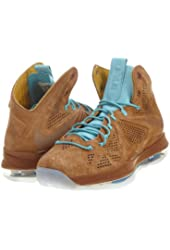 "Nike Mens Lebron X EXT QS ""Hazelnut"" Suede Basketball Shoes"