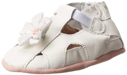 Robeez Pretty Pansy Soft Sole Sandal (Infant),White,12-18 Months M Us Infant front-16076