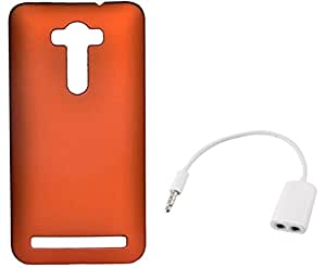 Tidel Orange Back Cover For Zenfone 2 Laser 5.5 With AUDIO SPLITER