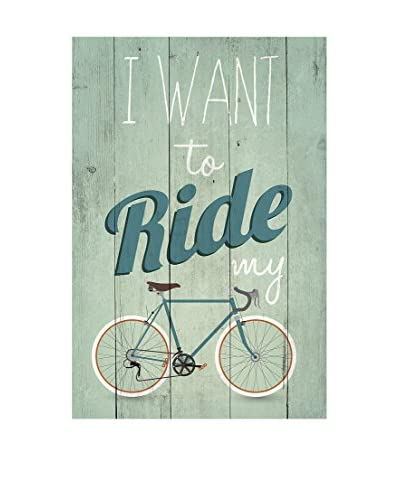 ReallyNiceThings Panel de Madera I Want Ride