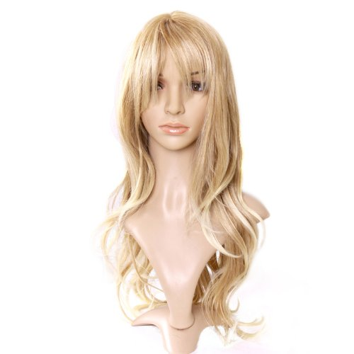 Sand/Strawberry Blonde Long Softly Waved Wig Charming Curly Costume Wig Hair