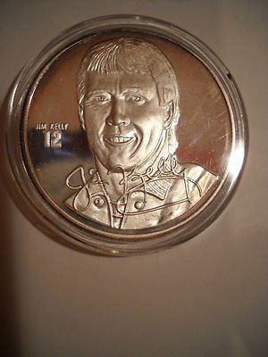1 oz 999 silver Jim Kelly 12 QB Buffalo Bills
