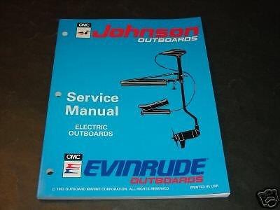 1994 Omc Evinrude & Johnson Outboard Motor Electric Service Manual