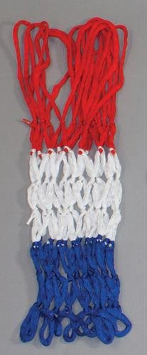 Champion Sports Economy Basketball Net - Red, White and Blue