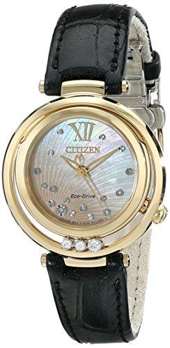 Citizen Women'S Em0322-02Y Citizen L Sunrise Analog Display Japanese Quartz Black Watch