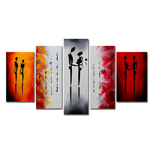 vasting-art-5-panel-100-hand-painted-oil-paintings-couple-people-fall-in-love-modern-abstract-contem
