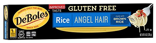 DeBoles Gluten Free Angel Hair Rice Pasta, 8 Ounce (Pack of 12) (Packaging may Vary) (Sugar Free Organic Pasta Sauce compare prices)