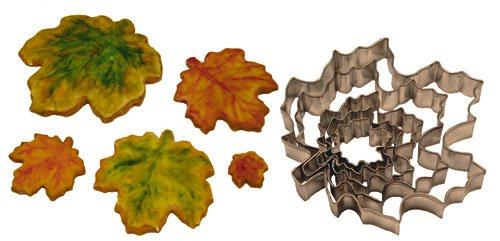Maple Leaf Cookie Cutters, Set of 5