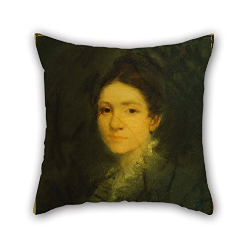 Artistdecor Oil Painting George Fuller - Portrait Of Mrs. Aaron Fuller Throw Pillow Case ,best For Floor,play Room,valentine,club,car Seat,father 18 X 18 Inches / 45 By 45 Cm(each Side) (Mrs Lincoln Rival compare prices)